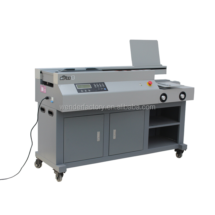 our company want distributor magazine binding machine 600 pages book binder glue stitching book binder