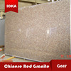 G687 red nature granite slab stone price for promotion