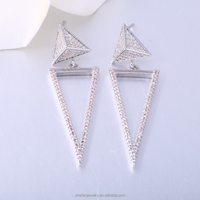jewelry making supplies oem long hanging earrings with good quality
