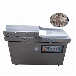 JOYGOAL double chamber vacuum packing machine for sea food / salted meat / dry fish / pork / beef / rice