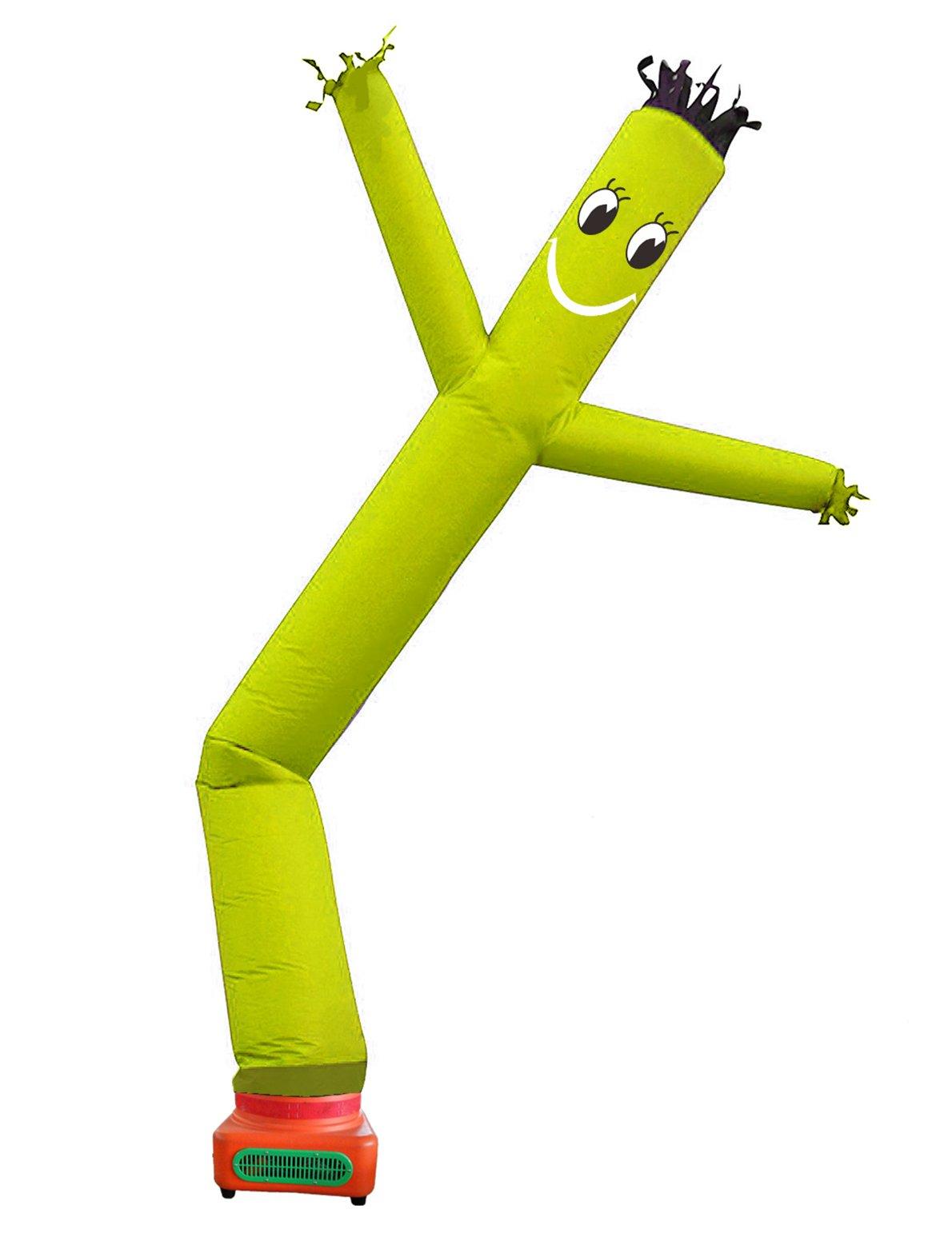 10 Feet Promtion single leg Tube Cartoon,Sky Puppet tube man Dancer, Advertising Windy Moving Dancer Man,inflatable wave man (yellow)