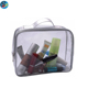 Fashion Beautiful Transparent Clear Pvc Cosmetic Bag With Handle And Zipper Closure
