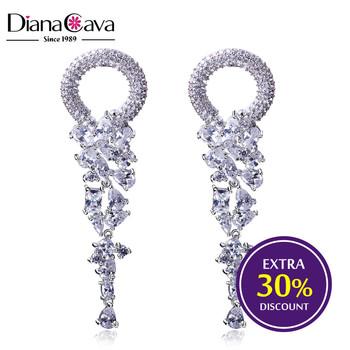 Fashion Earring Design New Model Bridal Jewelry Luxury Cc Long Fancy Drop Earrings
