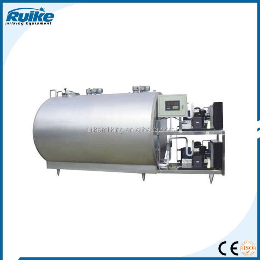 water chillers for the pasteurizer in the milk production lines