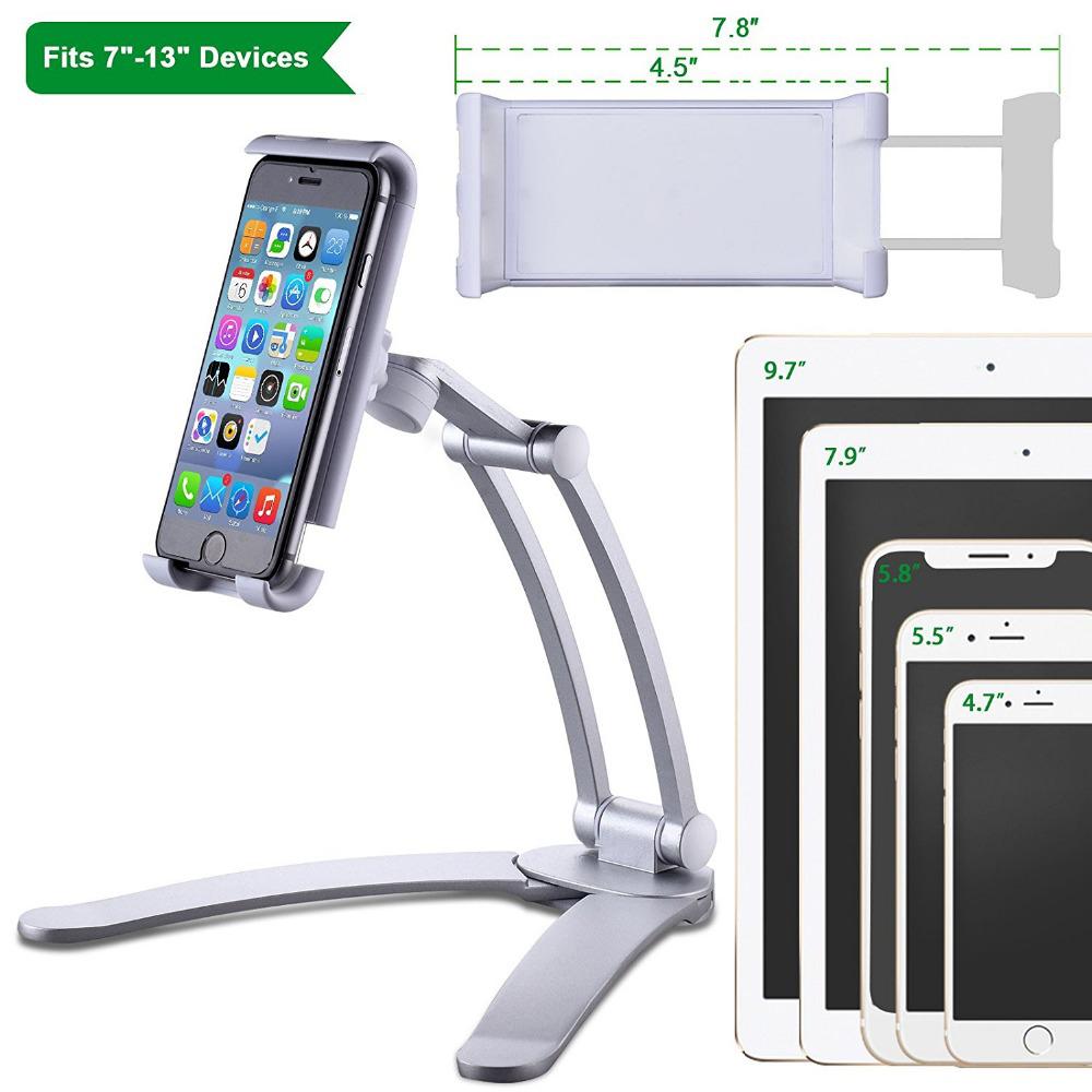 공장 가격 도매 금속 암 주방 벽 윈드 휴대 전화 스마트 전화 태블릿 스탠드 홀더