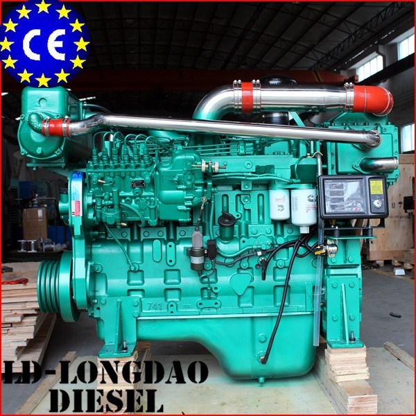 130HP 6Cylinders 4Stroke Watercooled Marine Engine 6CT