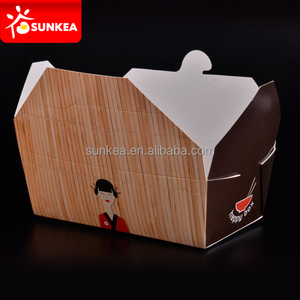 Chinese food, deli salads, pasta dishes, cookies and gift paper boxes