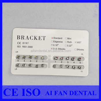 1a7ffd647a13 AiFan Promotion Price MBT 022 slot 3 Hooks dental orthodontic brackets