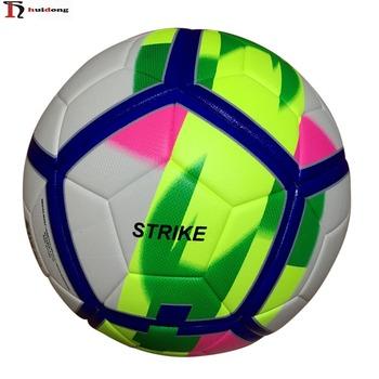 dcce82c609e6a Balones de futbol 2018 marca logotipo personalizado tamaño 5 antideslizante  TPU laminado balón de fútbol de