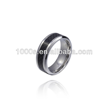 2013 hot saleblack tungsten wood ring