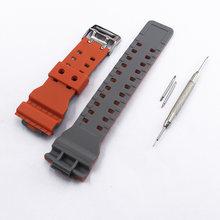 Аксессуары для часов, двухцветный ремешок с пряжкой для Casio G-SHOCK, GD-100, GA100, GD-110, 120, GA-110, для женщин и мужчин(China)