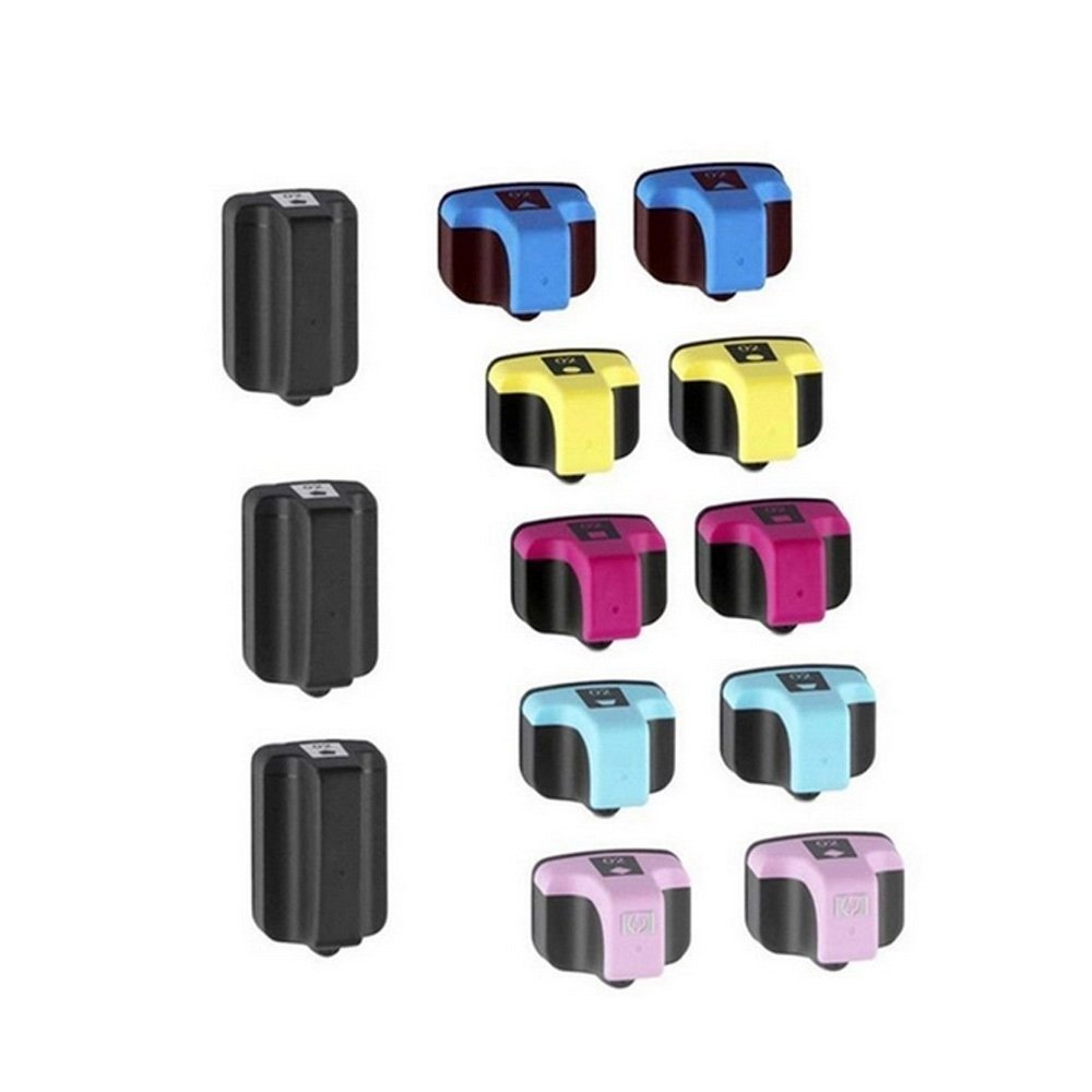 HOTCOLOR 12 Pack + 1 Black Ink Cartridges for HP 02 HP 02XL Photosmart 3310 C6180 C5280 C6280 Printer