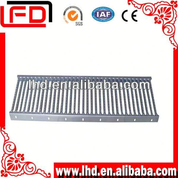 galvanized steel grid steps with grating staircase