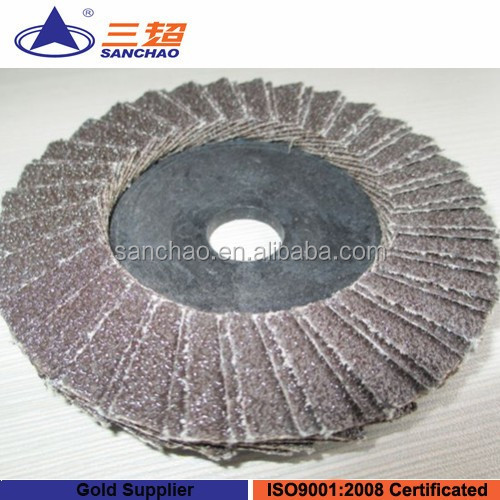 High density flap disc double piece sandpaper flap disc for polishing metals