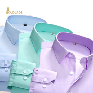 Custom long sleeve shirts wholesale cotton casual square-cut collar plain dyed official shirts for men