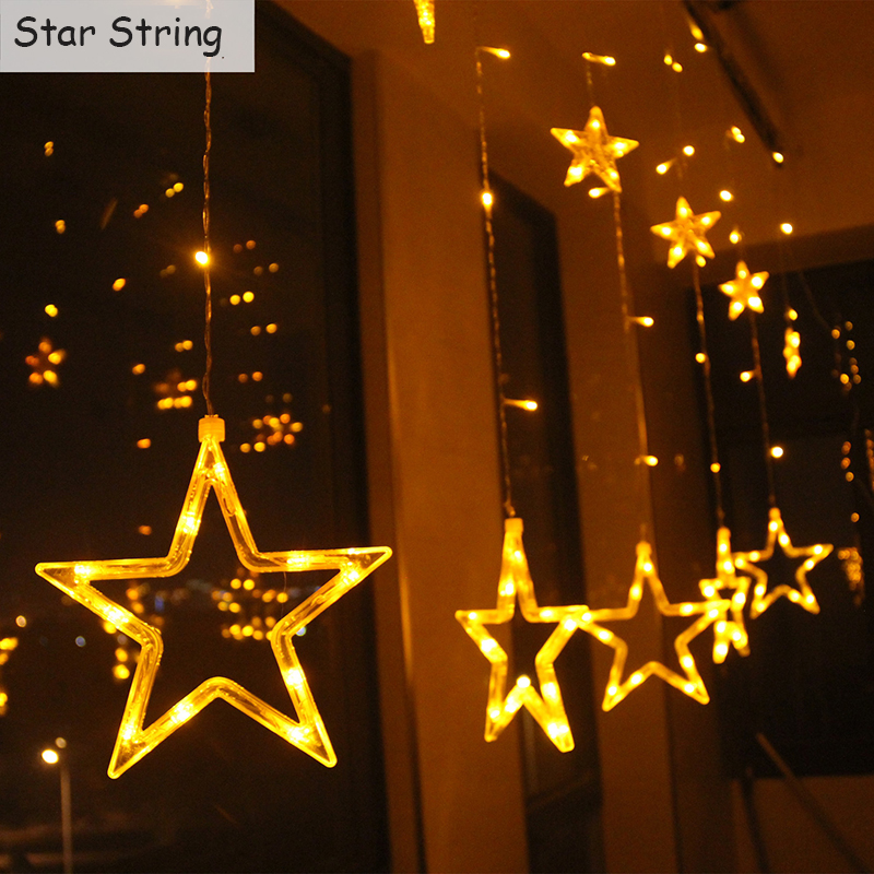 Fairy Romatic 2m 138led Waterproof Star String Light for Wedding Party Christmas