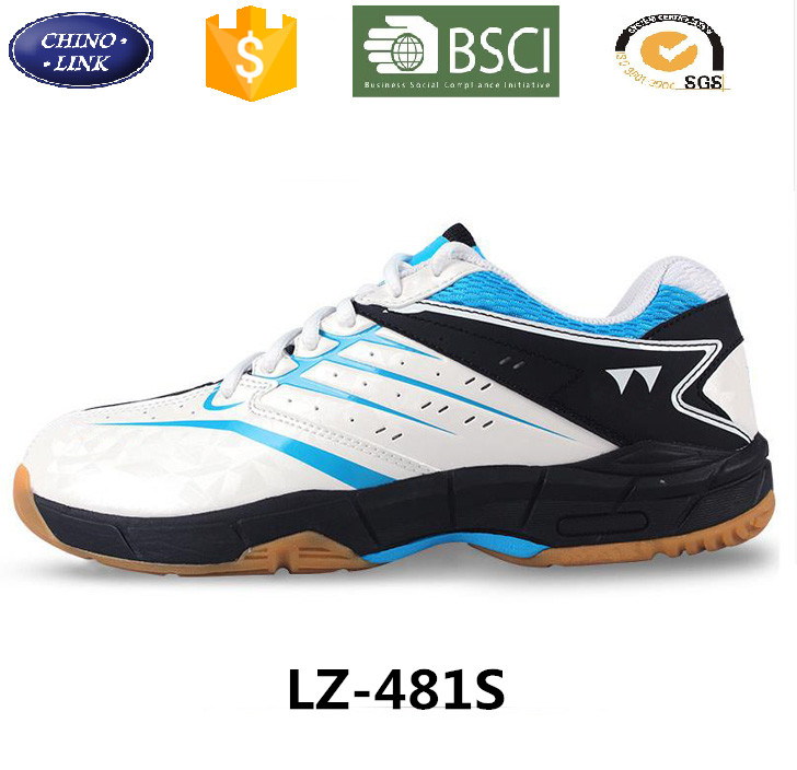 China Supplier ISO Factory Slip resistant Athletic sneakers professional trainers Breathable Badminton Shoes For Men sport Shoe