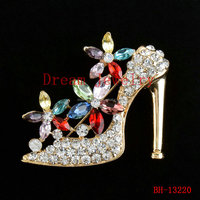The Crystal Shoes brooch fashion ladies wedding bridal gown high heels jewelry brooches