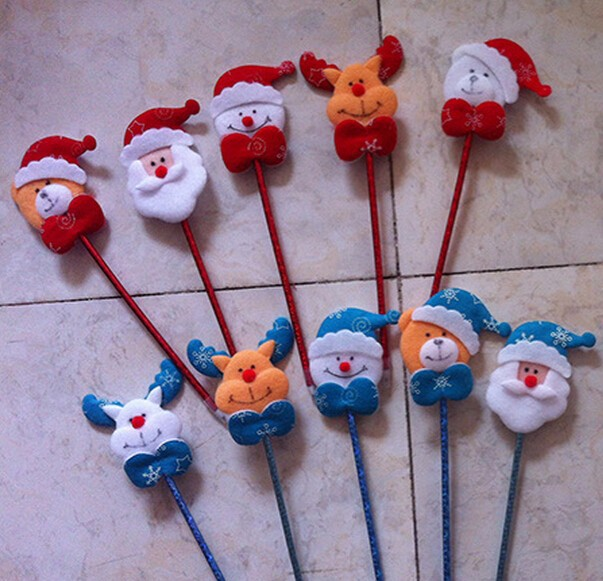 santa claus plush toy ball pen