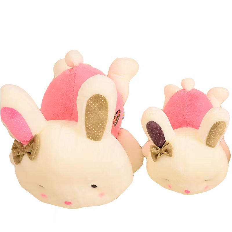 Bestdan child gift toy cute small size plush stuffed pink <strong>rabbit</strong>