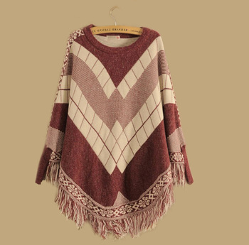 Hot selling wool poncho women knit poncho sweater wholesale with low price