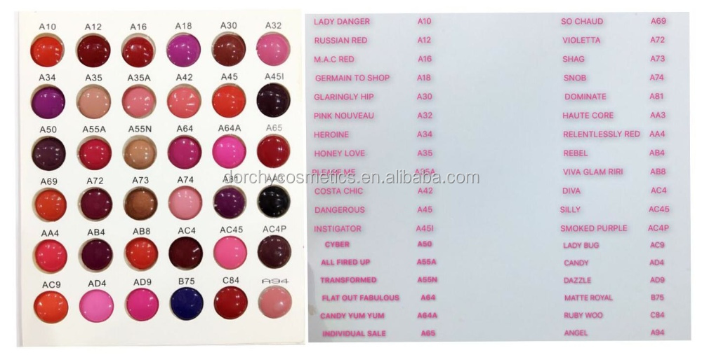 High pigment Matte lipstick brands Wholesale