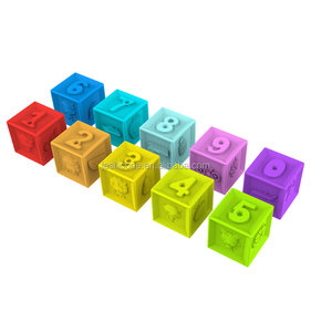 Food grade Silicone Building blocks with BB Sounds silicone emboss blocks