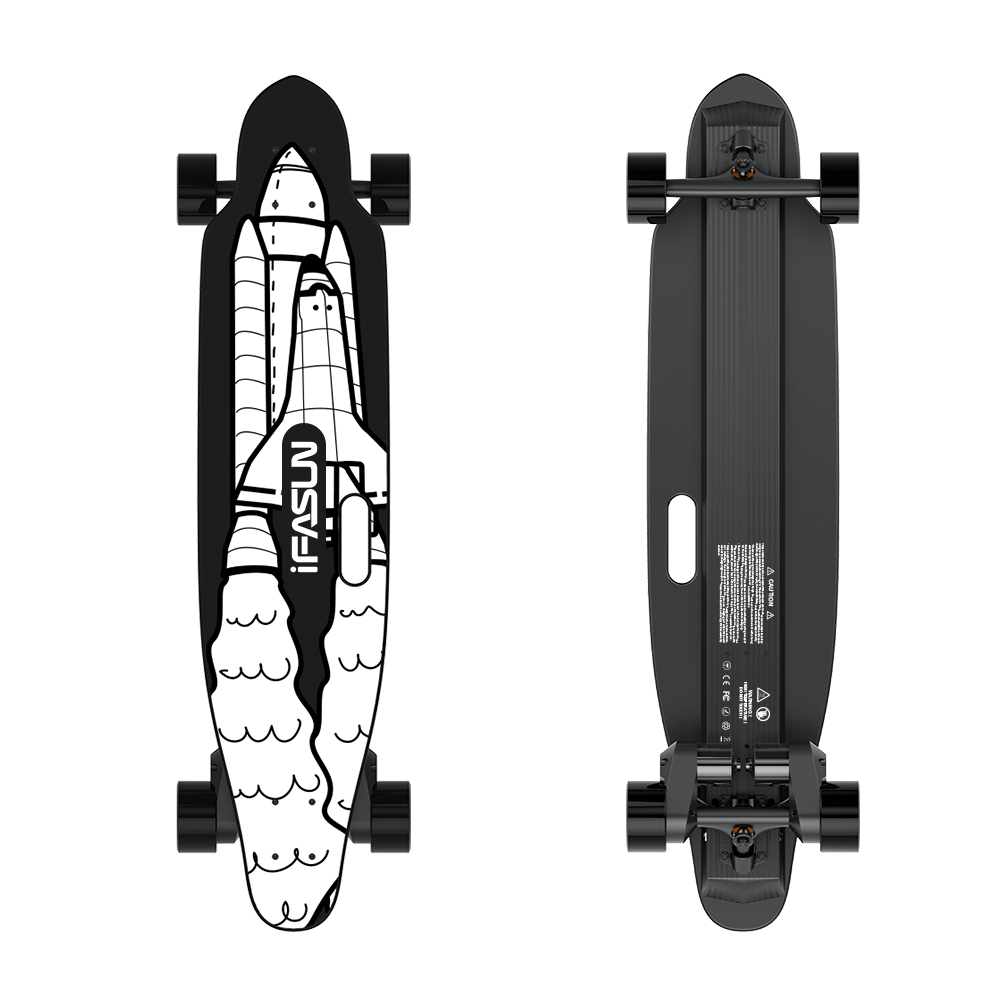 Customized 2000W 45KMH Japan Boosted Off Road Electric Skateboard