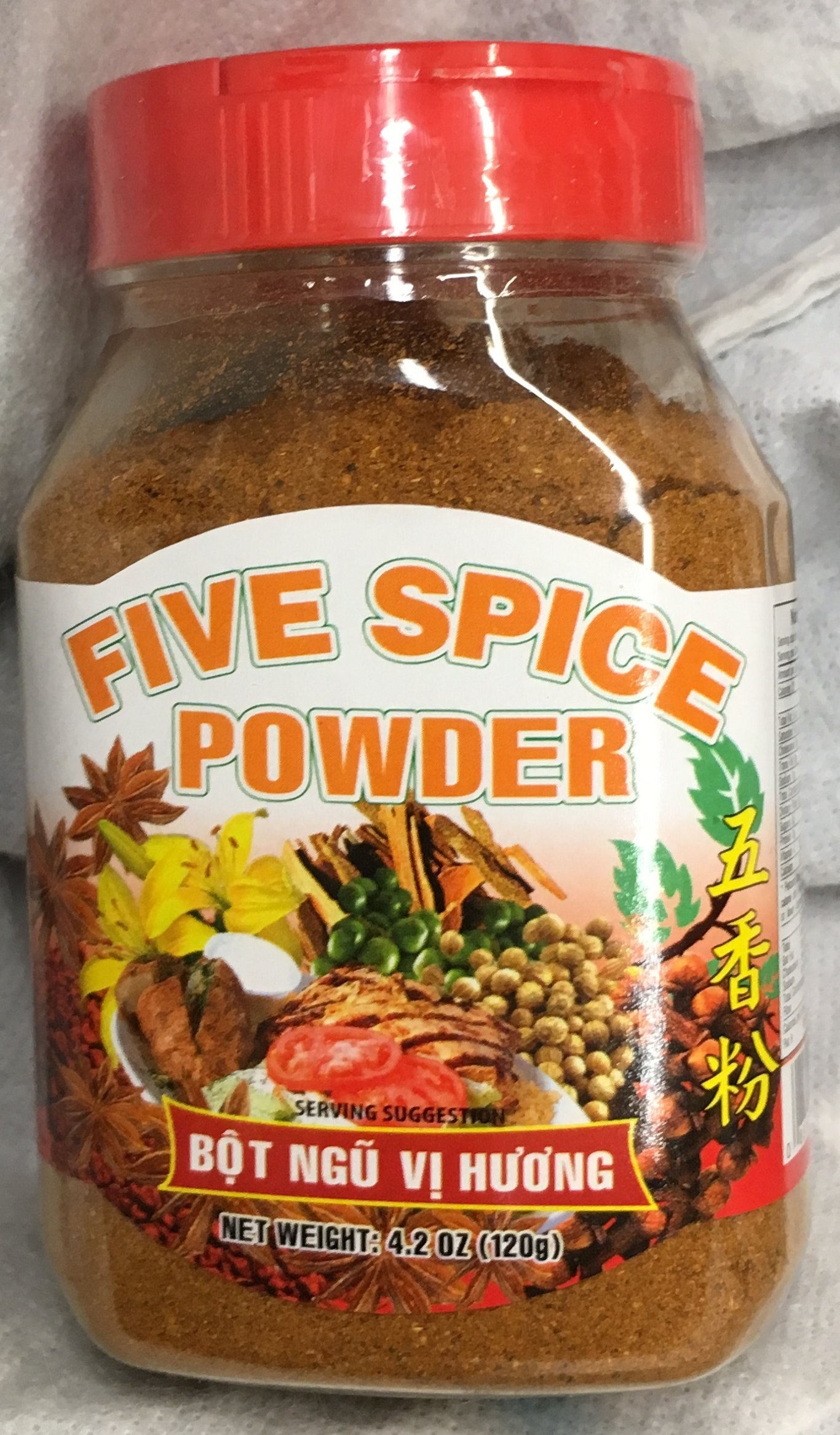 4.2oz Fortuna Five Spice Powder (Bot Ngu Vi Huong), Pack of 1