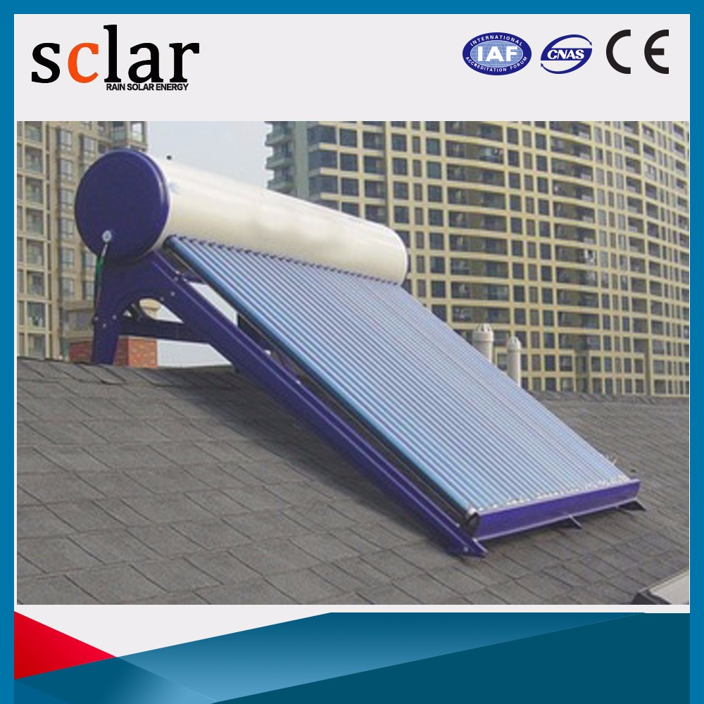 Domestic 150 liter solar hot water heater system with float valve