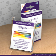 super sensitive universal ph paper strips,ph test paper strip 0-14