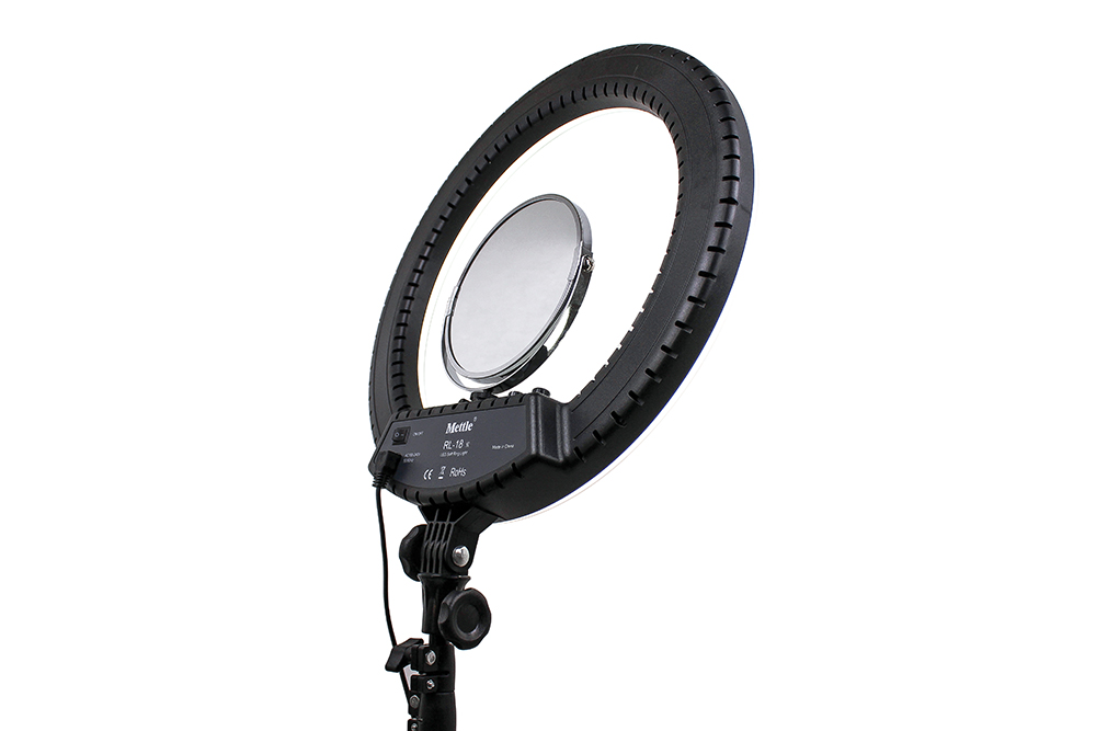 Mettle portable photographic equipment dimmable dual color make up LED Ring Light