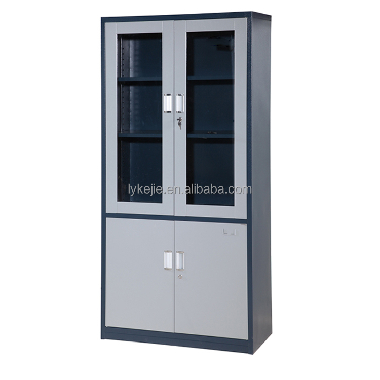 Luxury Home Office Furniture Storage Sliding Gl Door File Cabinet Metal Filing Chest Iron Cupboard