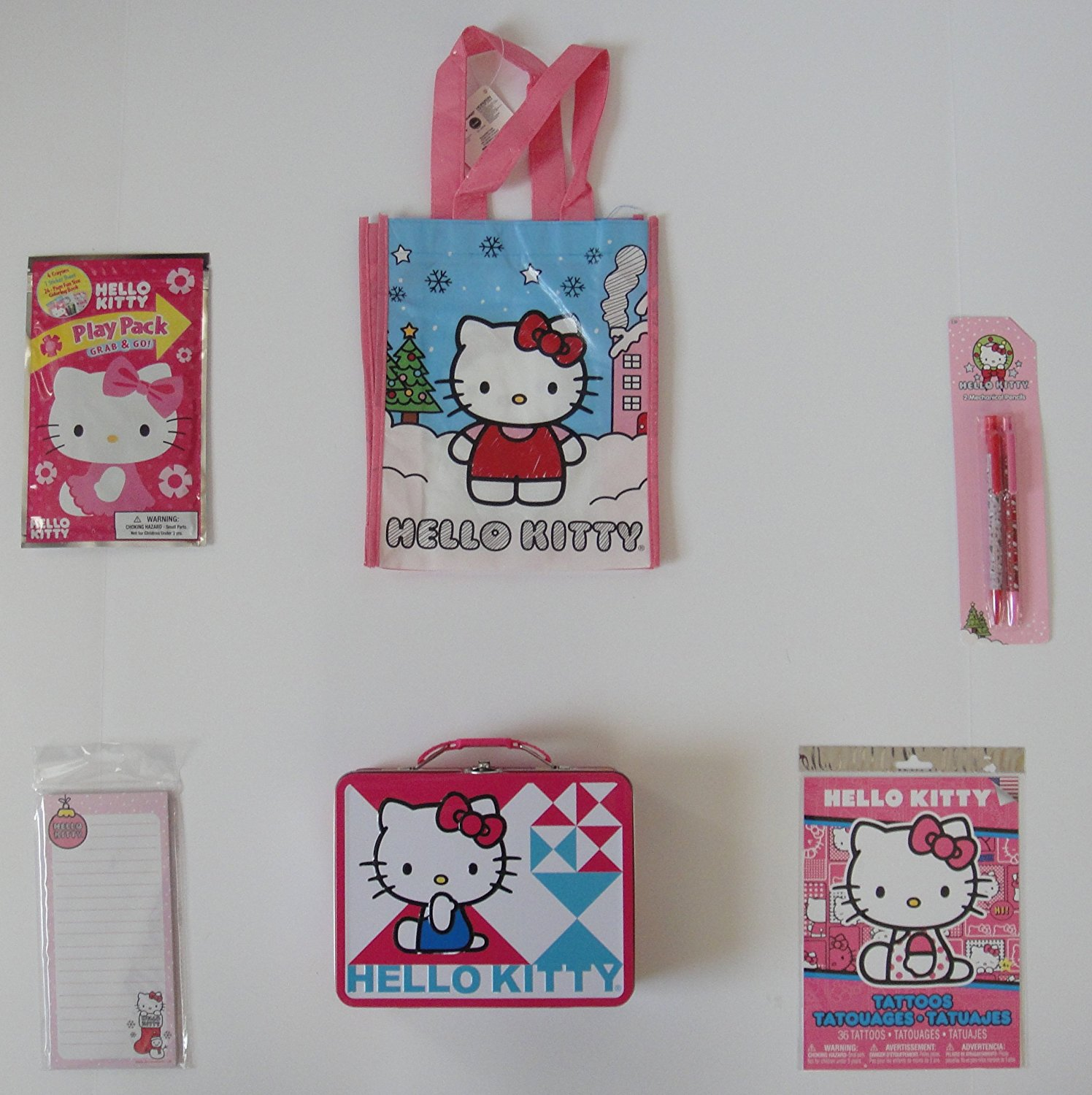 Hello Kitty 6 Piece Lunch Box Set