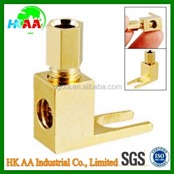 China Supplier High Quality Brass High Voltage Banana to Spade Adapter Plug Speaker Cable Connector