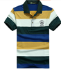 2016 New Design men striped color combination polo shirt