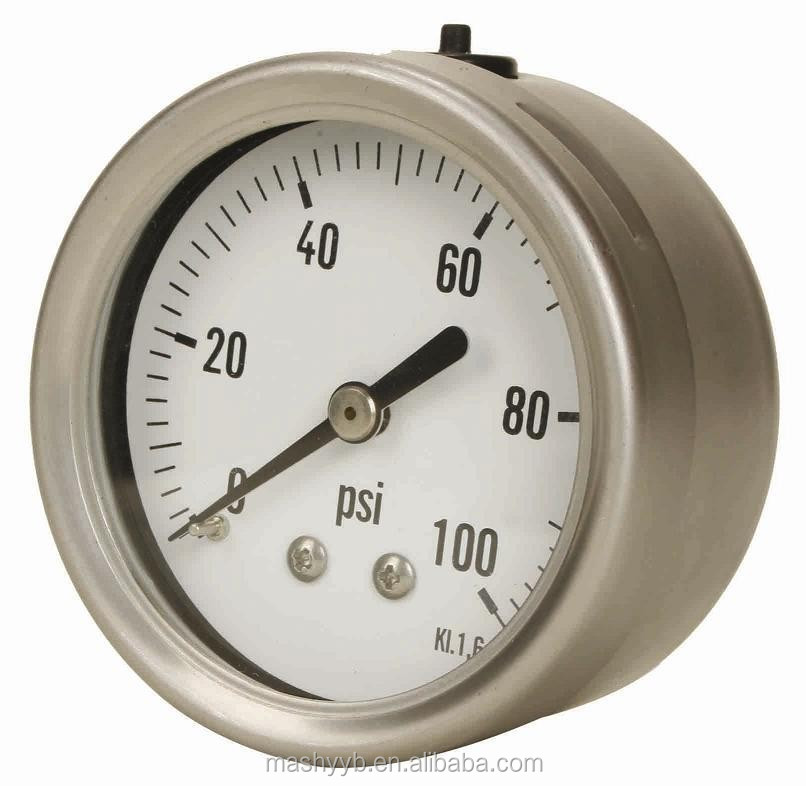 high precision all stainless steel wika pressure gauge en 837-1 with NPT thread
