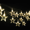 10M Battery Operated 80 LEDs Fairy string lights Star Shaped Festival Lamp Christmas Room Garden Tree Party Wedding Decoration