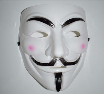 High quality plastic V Vendetta guy fawkes free anonymous mask