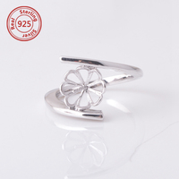 925 silver ring settings without stones wholesale ring mountings