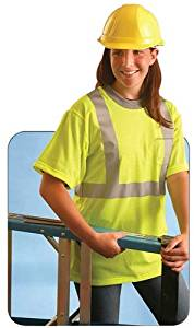 OccuNomix LUX-SSTP0-Y2X Classic Short Sleeve Wicking T-Shirt with Pocket Non-ANSI 2X-Large Yellow High Visibility