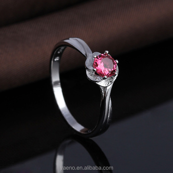 Factory Wholesale Hot Selling Simple Beauty S925 Silver One Red