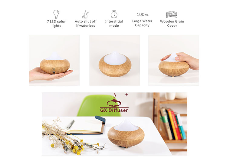home use wooden ultrasonic water control aroma diffuser