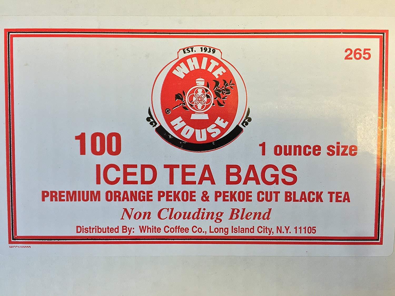 White House Premium Orange Pekoe & Pekoe Cut Black Tea (100 pouches/1 oz)