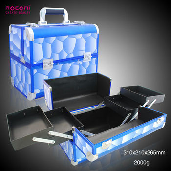 Blue Light Aluminum Makeup Case Vanity Box With Lock Colorful Make Up Case - Buy Aluminum Makeup ...