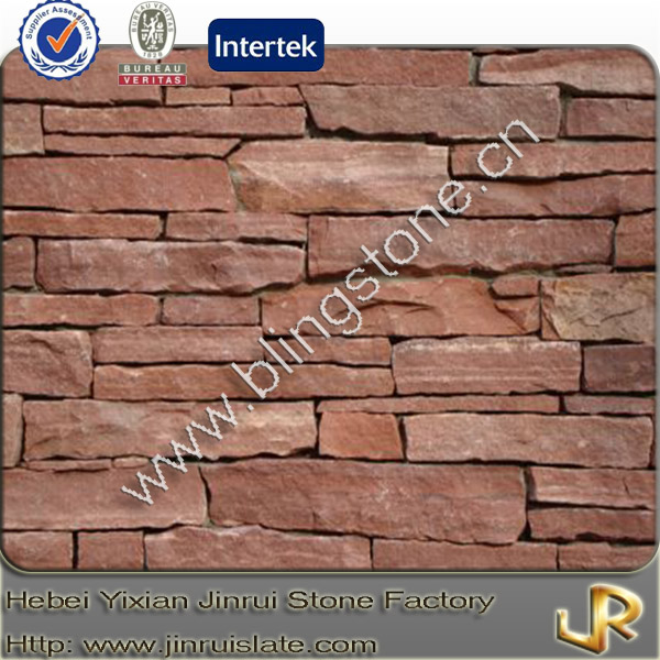 Walls decorative red sandstone facing stone