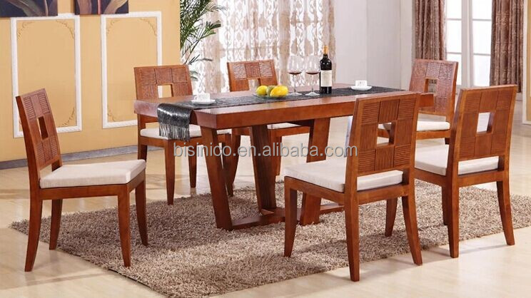 Sudeste de asia series muebles juego de comedor, sólido madera ...