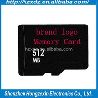 Best quality 100% original real capacity mobile phone 512 mb TF sd memory card wholesale
