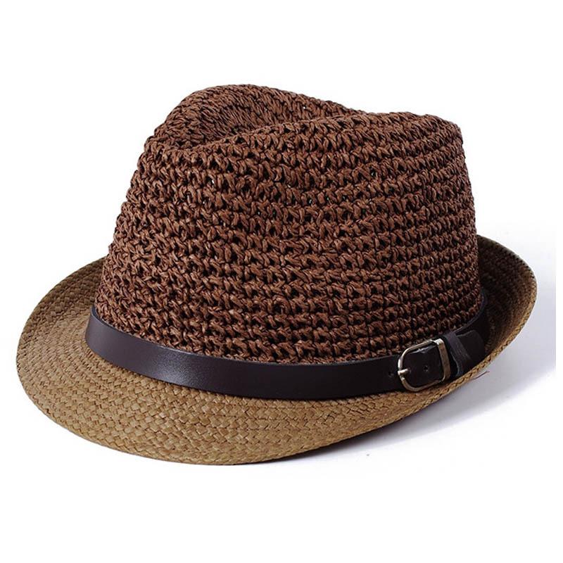 69b4769946b Get Quotations · 2015 Hot Sale Trendy Unisex Fedora Trilby Gangster Cap For Women  Summer Beach Sun hats Straw