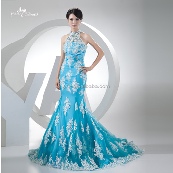 2be618c56f J--0004 Cordón Sublimar Halter Luz Azul Y Blanco Vestido De Boda ...
